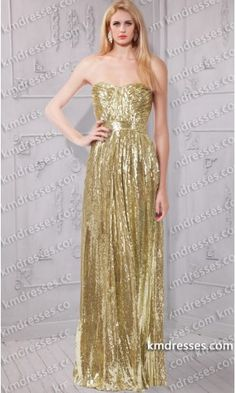 glamorous sparkly Sweetheart strapless gold sequin gown .prom dresses,formal dresses,ball gown,homecoming dresses,party dress,evening dresses,sequin dresses,cocktail dresses,graduation dresses,formal gowns,prom gown,evening gown.