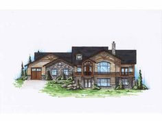 Craftsman House Plan with 2334 Square Feet and 2 Bedrooms from Dream Home Source | House Plan Code DHSW75141