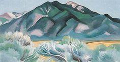 Georgia O'Keeffe.Taos Mountain New Mexico 1930