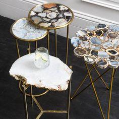Diy Resin Art, Diy Resin Crafts, White Side Tables, Modern Side Table, Resin Furniture, Cute Furniture, Painting Furniture, Plywood Furniture, Furniture Design