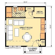deluxe pool house iii floor plan - Pool House Plans