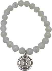 Monogram perfect Beaded Pearl Bracelet with Initial B  all #initials available @classiclegacy