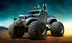 Check out the various cars and trucks from 'Mad Max: Fury Road', the George Miller sequel/reboot thirty years in the making. Mad Max Fury Road, Tom Hardy, Buick, Film Cars, Movie Cars, Max Movie, Monster Trucks, Monster Jam, The Road Warriors