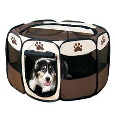Oxford Cloth Comfortable Playpen Pet Carrier with Fence for Dogs | knittedPaws | Price: $43.04 + FREE Shipping     #dog #puppy #bed #cat #pet #carrier #fence #playpen #doghouse