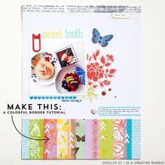 In a Creative Bubble: Tutorial // A Colorful Border