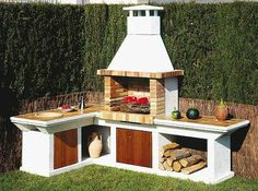 Amazing Outdoor Patio Barbecue Grill Ideas: Do you think that having a piece of BBQ stand in your house garden will bring a source of thrilling entertainment in the nightlife gatherings. Outdoor Oven, Outdoor Cooking, Masonry Bbq, Parrilla Exterior, Bbq Stand, Brick Bbq, Pergola, Gazebo, Bbq Area