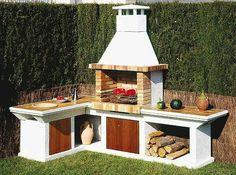 садовый камин с кухней
