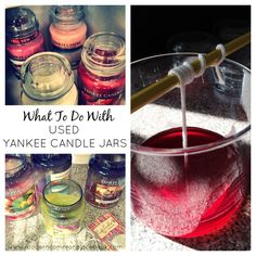 What to do with Used Yankee Candle Jars / How to Melt Down Wax for New Candles #diy #candlemaking www.moderncommonplacebook.com