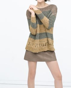 Image 4 of SWEATER WITH RIBBON from Zara
