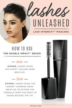 Lash Intensity® Mascara from Mary Kay gives you more volume for stand-out lashes. Mascara Tips, How To Apply Mascara, Apply Eyeliner, Lash Intensity Mary Kay, Maquillage Mary Kay, Selling Mary Kay, Mary Kay Party, Mary Kay Cosmetics, Beauty Consultant