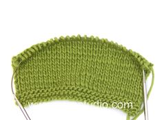 How to knit Japanese short rows