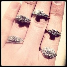 Assorted antique and vintage diamond rings. Visit www.nlshaw.com for more as well as details on those pictured here!