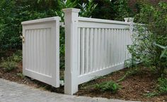 Wooden Driveway Gates, Garden Gate and Yard Gate painted white or colored - guarantee of 25 years Side Gates, Front Gates, Front Yard Fence, Fence Gate Design, Privacy Fence Designs, Timber Gates, Wooden Gates, Landscaping Retaining Walls, Fence Styles