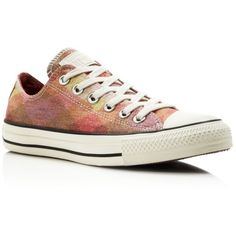 Converse Missoni All Star Glitter Low Top Sneakers ($95) ❤ liked on Polyvore featuring shoes, sneakers, star shoes, low top, low top canvas shoes, converse sneakers and print shoes