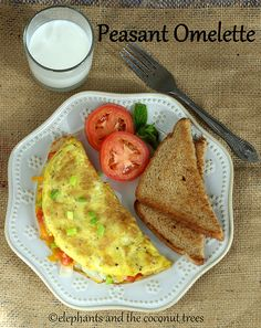 elephants and the coconut trees: Peasant Omelette #ComfortFoodFeast