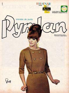Prendas de punto PYMLAN, 1967. Modelo, Vilma Berlin.