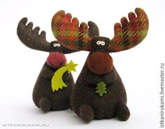 Where firewood. – shop online on Livemaster with sh Christmas Art, Handmade Christmas, Christmas Decorations, Christmas Ornaments, Moose Crafts, Reindeer Craft, Felt Crafts, Diy Crafts, Sewing Crafts