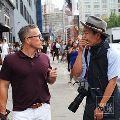 Priceless reaction from street style photographer @super_kosuke_ichizaki meeting his inspiration and dream @thesartorialist  @streetvues | streetvue.co  #newyork #nyfw #ss16 #menswear #fashion #mensfashion #menstyle  #street #style #streetstyle #nofilter #dvf