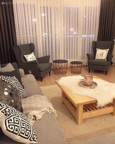 Modern Stile Keyif Katan Detaylar: Cansu Hanım-ın Evi Modern Decor, Mid-century Modern, Design Marocain, Home Decoracion, Modern Minimalist, Interior Design Living Room, Home Accessories, Home Furniture, Living Spaces