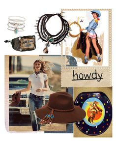 """""""Western Darlin"""" by thedarlins ❤ liked on Polyvore featuring Free People, ále by Alessandra, M&F Western, Accessorize, NOVICA, cowgirl, western and DenimStyle"""
