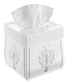 Decorative Tissue Box Holder Kingfom Rectangular Pu Leather Facial Tissue Box Table Decoration