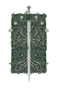Anduril by Stevie Dutson - Top 500 Best Tattoo Ideas And Designs For Men and Women Gandalf, Aragorn, Tauriel, Lotr Tattoo, Sword Tattoo, Tolkien Tattoo, Tattoo Art, Jrr Tolkien, Dark Fantasy