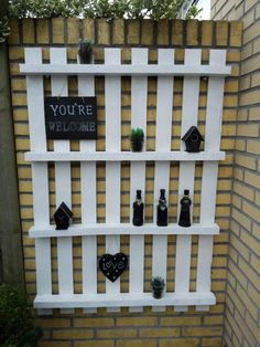 Wine Rack, Pallet, Outdoor Living, Outdoor Structures, Home Decor, Bottle Rack, Pallets, Outdoor Life, Interior Design