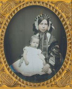 Beautiful Mom and baby, circa late 1850s