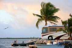 Key West, Florida - Bluewater luxury RV resort Located directly on Key West, Blue Water Key RV Resort has incredible views and first class amenities.  All of the sites here are privately owned, but when they aren't in use they're made available for guests.