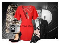Red passion by christina-geo on Polyvore featuring Glamorous, Lanvin, Christian Louboutin, MAC Cosmetics, ncLA, Paul Frank, women's clothing, women's fashion, women and female