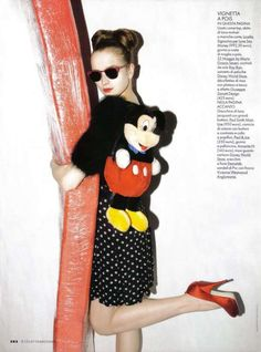 Mickey Mouse-Inspired Editorials - Elle Italy Channels Disney's Most Famous Rodent (GALLERY)
