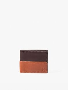 TWO-TONE LEATHER WALLET MASSIMO DUTTI