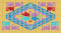 Wayuu Mochila native American x-stitch