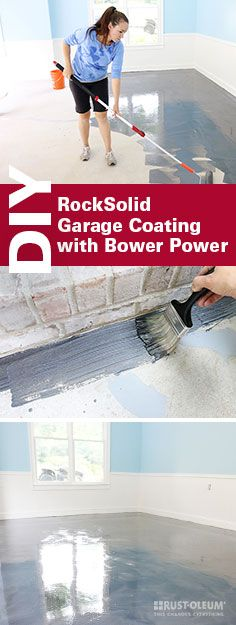 With garage coating this gorgeous, you'll want to DIY every cement floor in your house. Check out how Bower Power easily mixes, shakes, pours and rolls their way to the garage floor of their dreams that's 20x stronger than epoxy.