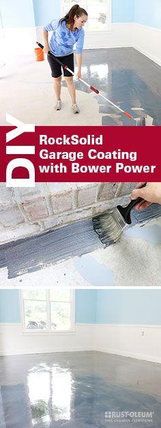 Diy with style how to apply rocksolid metallic garage floor finish rock solid garage floor solutioingenieria Choice Image