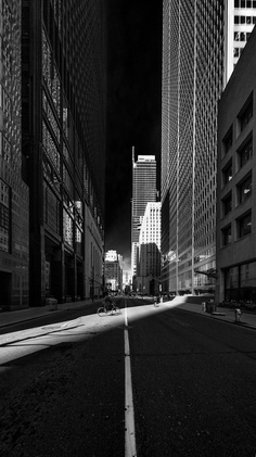 Torontos Financial District in black & white - Toronto Ontario Canada, Toronto City, Perspective, Skill Saw, City Streets, Great Photos, Black And White Photography, Street Photography, Landscape
