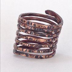 Anel de cobre/ Cooper ring by Balangandan on Etsy
