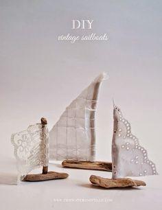 DIY Vintage Nautical Sailboat Favors - DIY craft project for vintage sailboat wedding favors or placecards. Vintage Nautical, Nautical Wedding, Diy Wedding, Wedding Favors, Wedding Blog, Handmade Wedding, Seaside Wedding, Wedding Table, Wedding Ceremony