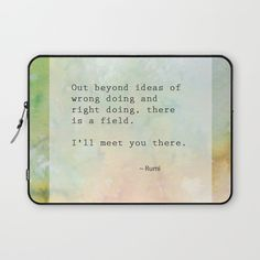 Meeting Laptop Sleeve, Rumi, typography, love, life