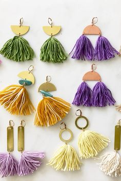 Tassels earrings in every color of the rainbow. It's just what today needs