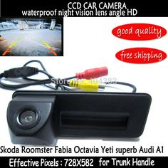 sony ccd For skoda octavia fabia audi A1 car Rear view camera Car parking camera Trunk handle camera Night vision waterproof #Affiliate