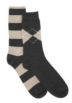 F 2 Pair pack of socks
