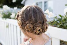 Flower Crown Braid | Nette Mädchen Frisuren