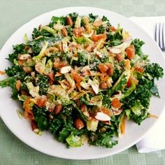 Raw Kale and Brussels Sprouts Salad #HealthyAperture