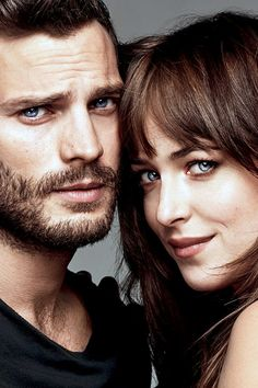 Jamie Dornan And Dakota Johnson. Jamie's Eyes ~Christian Grey Eyes~ Jamie Dornan and Dakota Johnson for Glamour Magazine. Fifty Shades Of Darker, Shades Of Grey Film, Christian Grey, Dakota Johnson, Jamie Dornan, Fifty Shades Series, Fifty Shades Movie, Mr Grey, Dakota Y Jamie