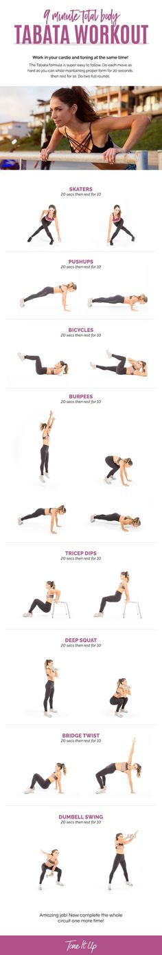 Tone It Up 9 Minute Total Body Tabata Workout!