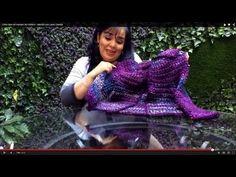 Cómo tejer mangas a un Chaleco - Tejiendo con Laura Cepeda - YouTube