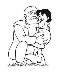 Heidi e il nonno disegni da colorare gratis