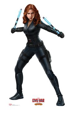 Black Widow from Captain America Civil War Life-Size Cardboard Standup