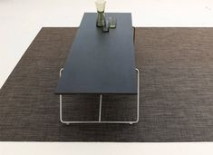 Chilewich woven floor mats are sleek, easy to clean, and safe with a sturdy latex backing that prevents curling and slipping (no rug pad required! Outdoor Carpet, Carpet Cleaners, Ping Pong Table, Unique Colors, Earth Tones, Floor Rugs, Basket Weaving, Cleaning Wipes, Home Furnishings